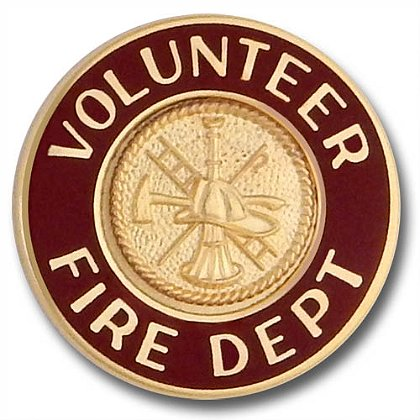 Volunteer Fire Department Collar Insignia Pin