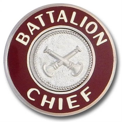 Silver Battalion Chief Collar Insignia Pin