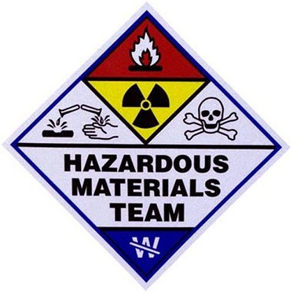 3 Inch Haz Mat Team Decal