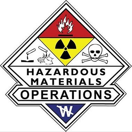 3 Inch Haz Mat Operations Decal