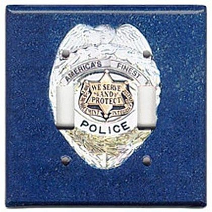 Police Double Light Switch Plate