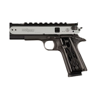 Hogue 1911 Style Government Model, Aluminum Panels , Black Flames Anodized