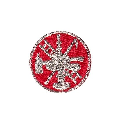 Hero's Pride Embroidered Fire Scramble Collar Insignia