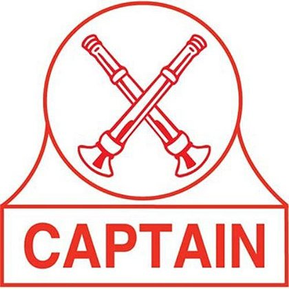 Captain X Bugles Rank Decal
