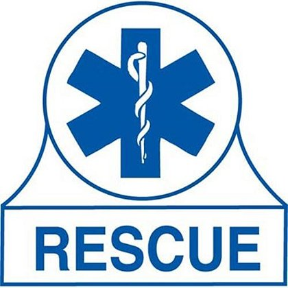 Rescue Rank EMS Star of Life Decal