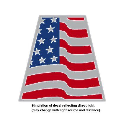 Exclusive Reflective Wavy American Flag Helmet Tetrahedron
