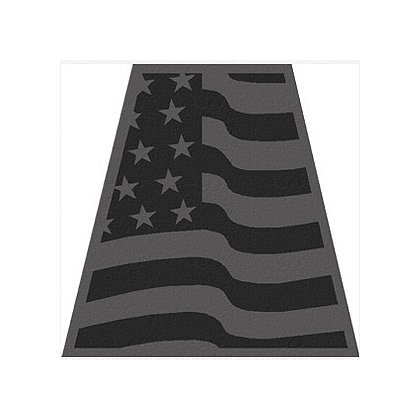 Exclusive Wavy Black Reflective American Flag Tet Decal