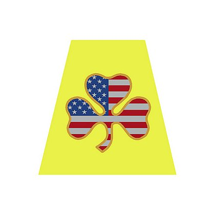 TheFireStore Yellow Helmet Tetrahedron with USA Flag Shamrock