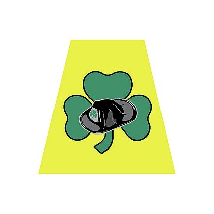 Exclusive Yellow Helmet Tetrahedron with Shamrock and Helmet
