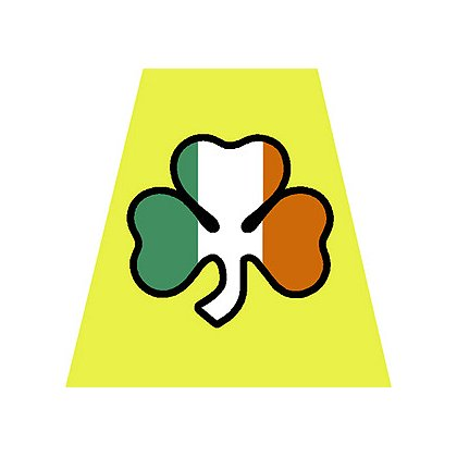 Exclusive Yellow Helmet Tetrahedron with Shamrock