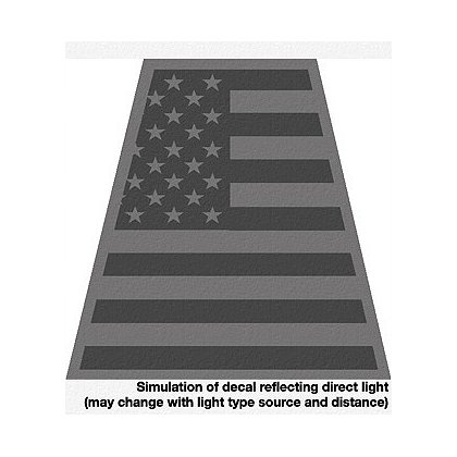 TheFireStore Exclusive Black Reflective American Flag Tet Decal