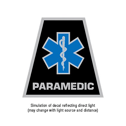 theEMSstore Exclusive Reflective Helmet Tetrahedron Star of Life Paramedic Decal