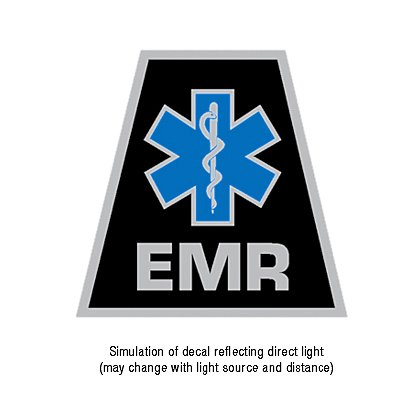 TheFireStore Exclusive Reflective Helmet Tetrahedron Star of Life EMR