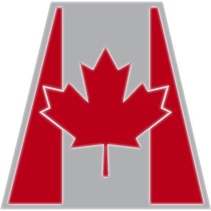 TheFireStore Individual Reflective Tetrahedron, Canadian Flag, 2