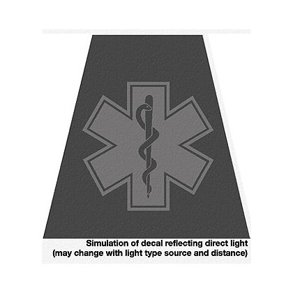 Decal Star of Life Black Reflective Tet 2