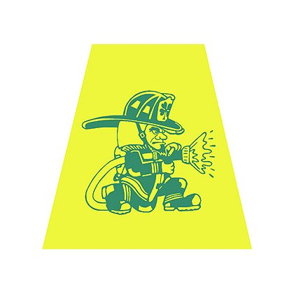 Exclusive Yellow Helmet Tetrahedron with Fighting Irish