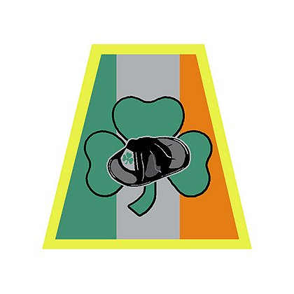Exclusive Irish Helmet Tetrahedron with Shamrock and Helmet