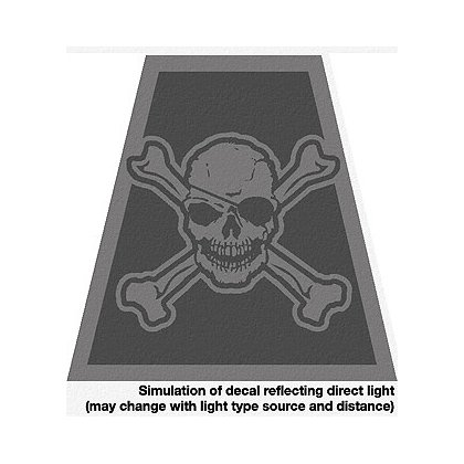 Exclusive Black Reflective Skull and Crossbones Tet Decal