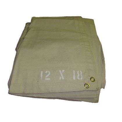 Husky Olive Drab Water Resistant Canvas Salvage Covers