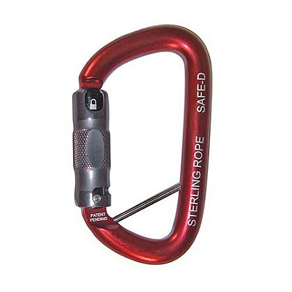 Sterling SafeD Autolock Carabiner w/ Lanyard Pin