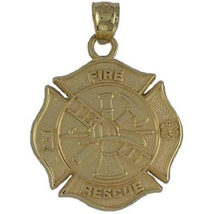 Maltese Cross Fire Rescue Charm