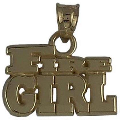 Fire Girl Charm
