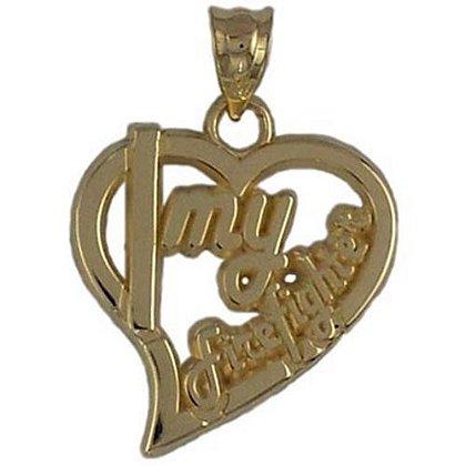 I Love My Firefighter Heart Charm