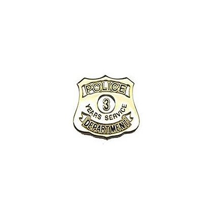 Police Department 3 Years Of Service Pin