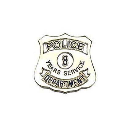 Police Department 8 Years Of Service Pin