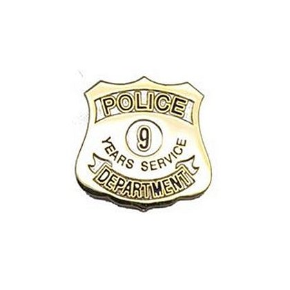 Police Department 9 Years Of Service Pin
