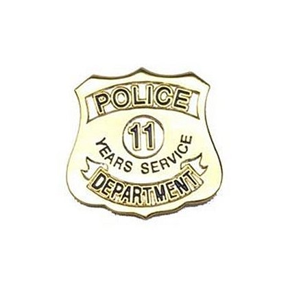 Police Department 11 Years Of Service Pin