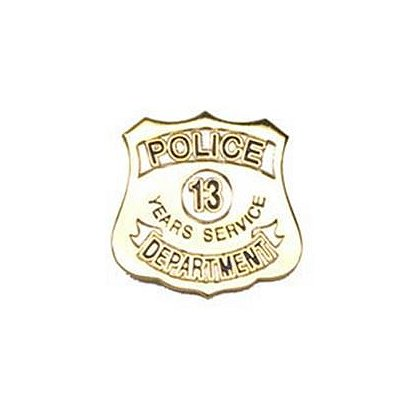 Police Department 13 Years Of Service Pin