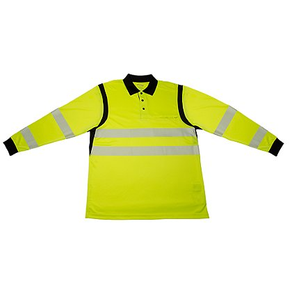 Elbeco Ufx Ultra-Light Tactical Long-Sleeve Hi-Viz Polo Shirt