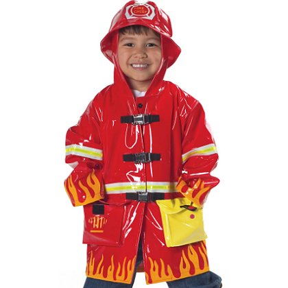 Children's Fireman Raincoat