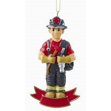 Fireman With Gear Ornament