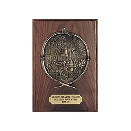 Liberty Artworks Bronze Steamer Scene Plaque