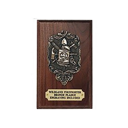 Liberty Artworks Bronze Wildland Firefighter Plaque