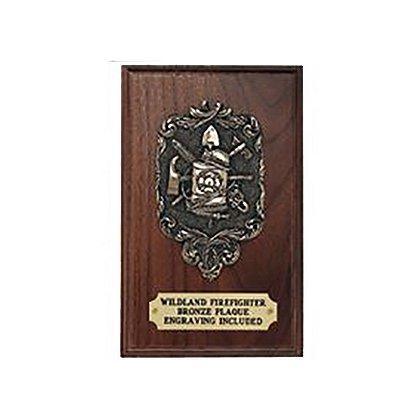 Liberty Artworks Bronze Wildland Firefighter Plaque