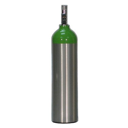 LIFE Corp EMS Aluminum Oxygen Cylinder with Brass Valve