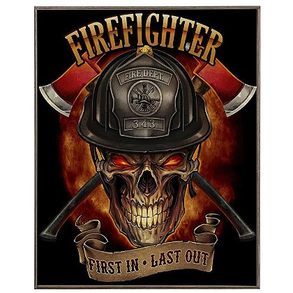 Laser Reproductions Firefighter Skull