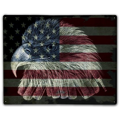 Laser Reproductions American Flag Firefighter Eagle