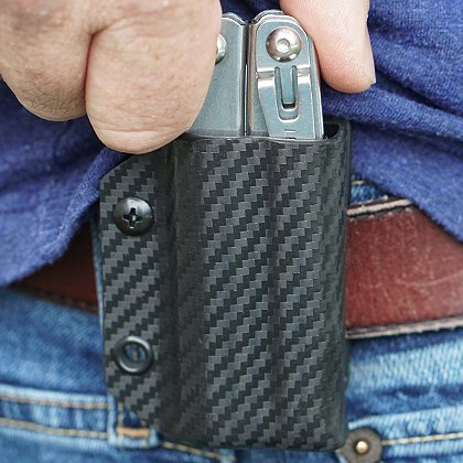 StatGear Carbon Fiber Kydex Sheath for Leatherman Wingman, Sidekick, Rebar & Rev