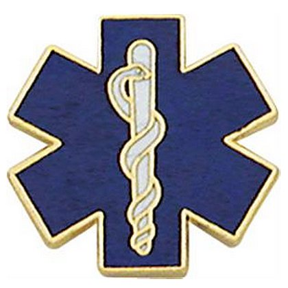 Smith & Warren Star of Life Collar Brass, Gold with Blue/White Enamel