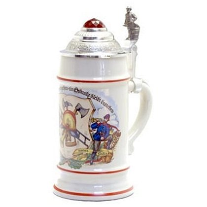 Fireman Stein With Prism Lid