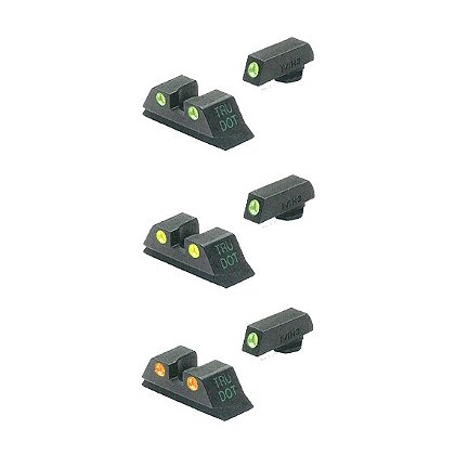 Meprolight TRU-DOT Fixed Night Sight Sets--Green, Orange, or Yellow Rear
