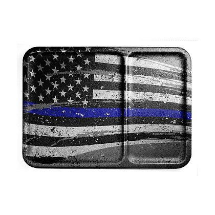 Mission First Distressed Thin Blue Line Flag Dump Tray