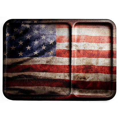Mission First Distressed Flag Dump Tray