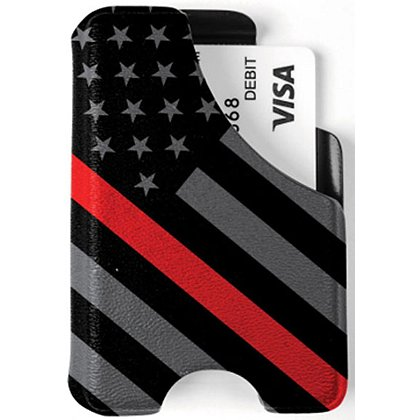 Mission First Tactical Thin Red Line Flag Minimalist Wallet