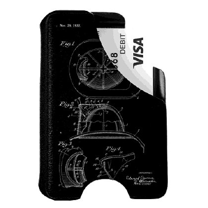 Mission First Tactical Helmet Drawing Minimalist Wallet