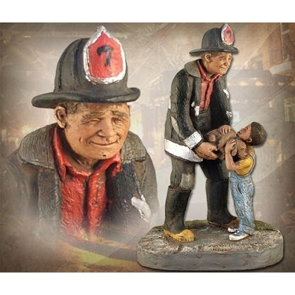 Look What I Found Firefighter Statue